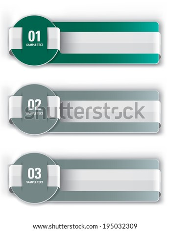 Numbered Banners. Vector Design.