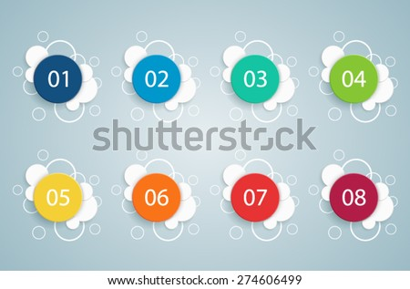 Numbered Bullet Point Bubble Infographics 2  - stock vector