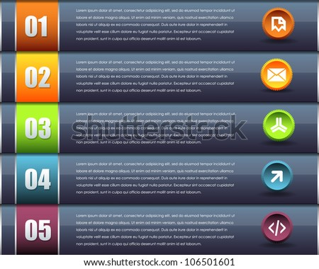 Numbered Information Banner Vector Design - stock vector