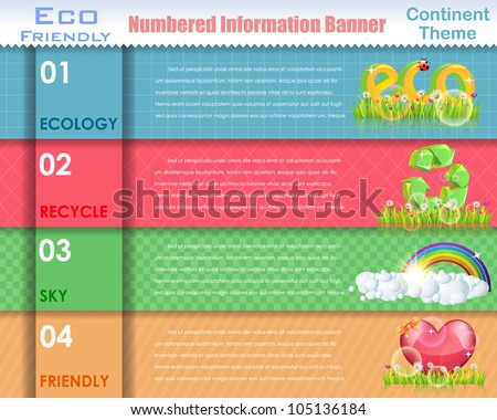 Numbered Information Eco Friendly Vector Design