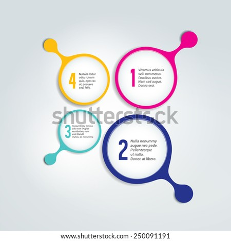 Numbered template, scheme. Infographic element. - stock vector