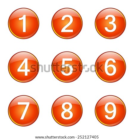 Colorful flat number icons stock vector 189860444 for Blueprint number