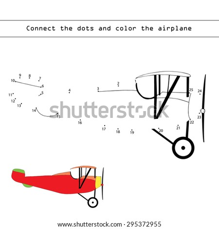 Numbers game (airplane) - stock vector