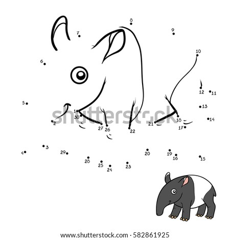 tapir coloring pages for kids - photo#13