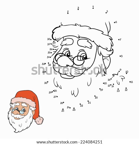 Numbers game (santa claus) - stock vector