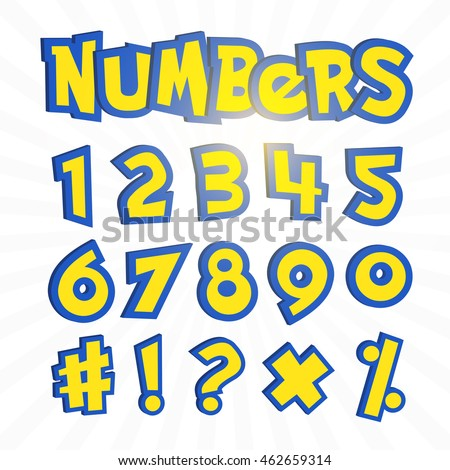 Go Style Template | Numbers Pokemon Go Cartoon Style On Vector De Stock462659314