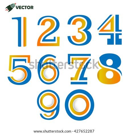 Numbers Letters Numbers Logo Icons Stock Vector