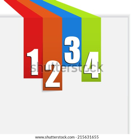 Numbers on color labels