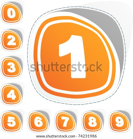 Numbers. Vector illustration. - stock vector