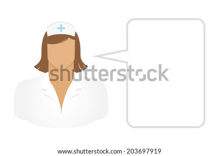 Nurse - Avatars and User Icons - stock vector