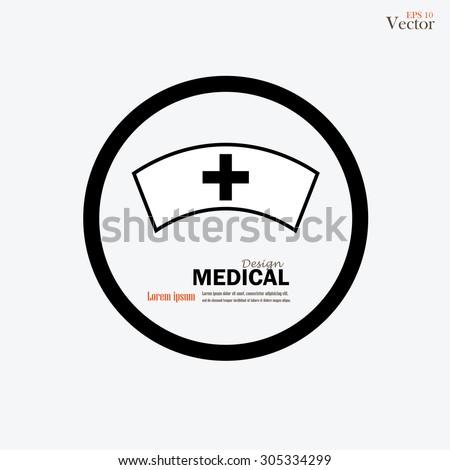 nurse cap.nurse cap icon.medical concept.vector illustration. - stock vector