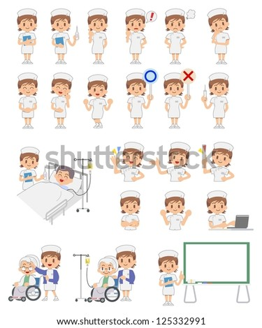 Nurse - Set - stock vector
