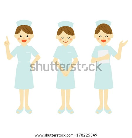 nurse / Vector EPS 10 illustration - stock vector