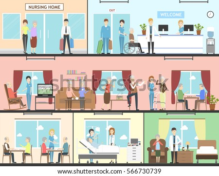 Nursing home stock images royalty free images vectors for How to build a retirement home