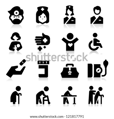 Nursing Icons - stock vector