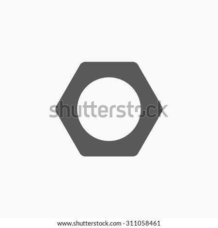 nut icon - stock vector