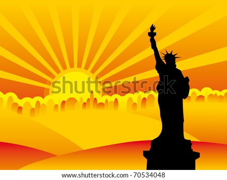 NY city silhouette - stock vector