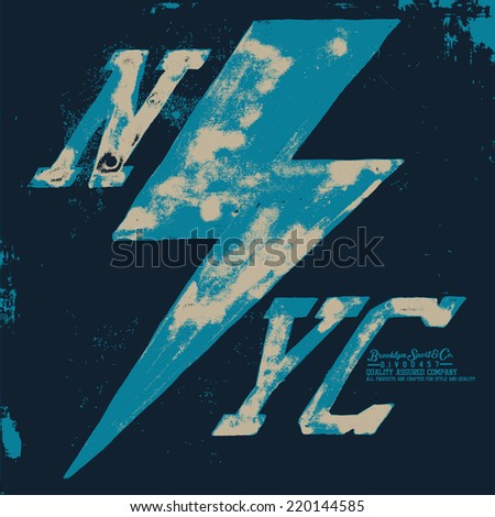 NYC t-shirt graphic - stock vector
