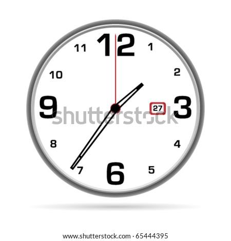 O'clock - stock vector