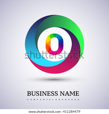 O letter colorful logo in the circle. Vector design template elements for your application or company identity. - stock vector