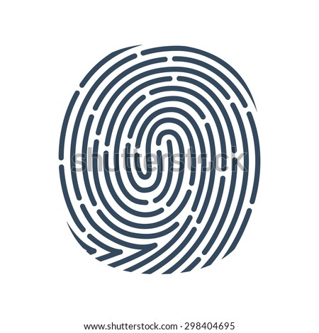 O letter line logo. Vector fingerprint design. Detective, Audit or Biometric access control system vector design template elements for your application or company. - stock vector