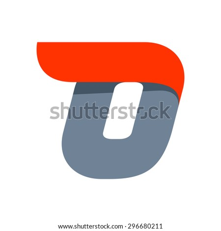 O letter logo design template. Fast speed vector unusual letter. Vector design template elements for your application or company. - stock vector