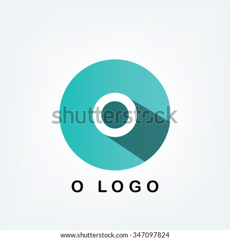 O Simple Blue Alphabet Logo Long Stock Vector 347097824 Shutterstock