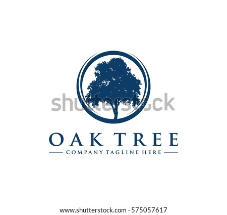Oak Tree Logo Stock Vector 575057617 - Shutterstock