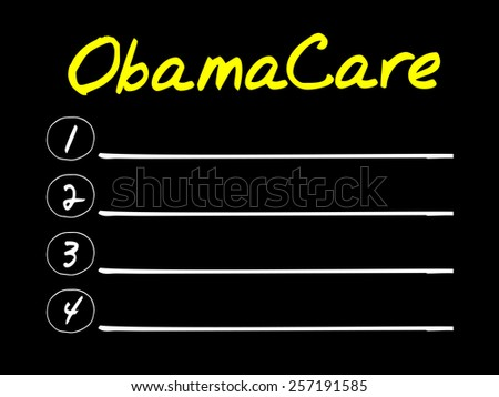 OBAMACARE blank list, business concept - stock vector