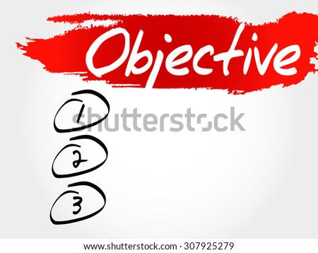 Objective blank list, business concept - stock vector