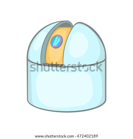 Observatory icon in cartoon style isolated on white background. Scientific construction symbol