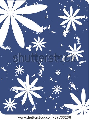 obsolete floral vector design of abstract flowers