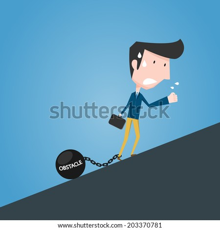 Obstacle concept - stock vector