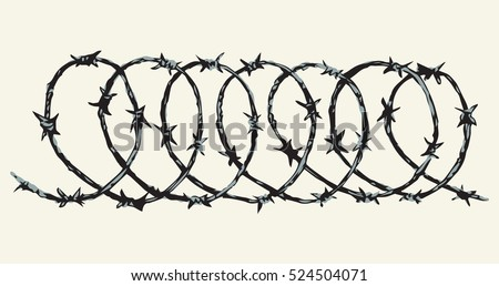 Obstacle Spiral Shape Bob Razorwire Row Stock Photo (Photo, Vector ...
