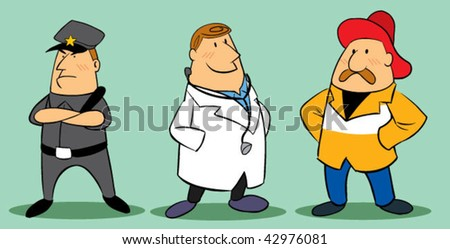 occupation character - stock vector