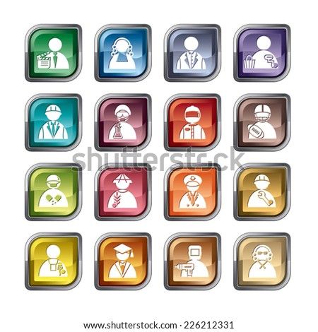 Occupation Icons - stock vector