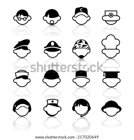 Occupation Icons Vector files. - stock vector