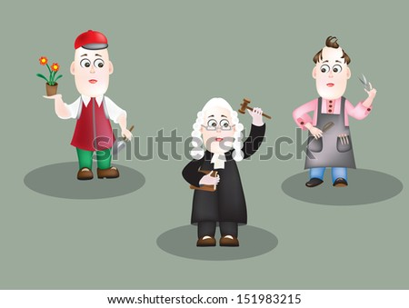 occupations - stock vector