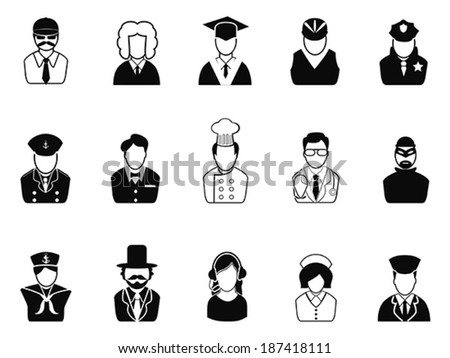 Occupations, Avatars ,User Icons set - stock vector
