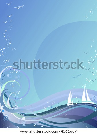 Ocean Background - stock vector