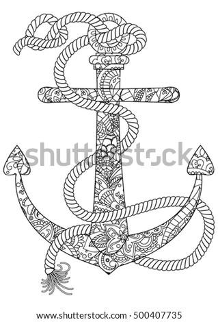 ocean coloring page anchor