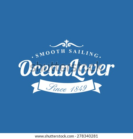 Ocean Lover Nautical Background - stock vector