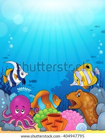 Ocean underwater theme background 5 - eps10 vector illustration. - stock vector