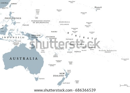 Pacific Islands Stock Images RoyaltyFree Images Vectors - Us pacific islands map