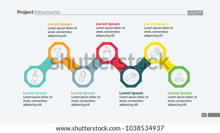 Octagon Infographic Diagram Template Business Data Stock Vector HD ...