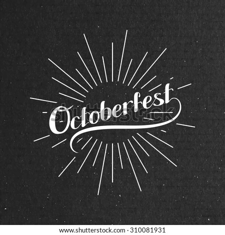 Octoberfest. Holiday Vector Illustration With Lettering Composition - stock vector