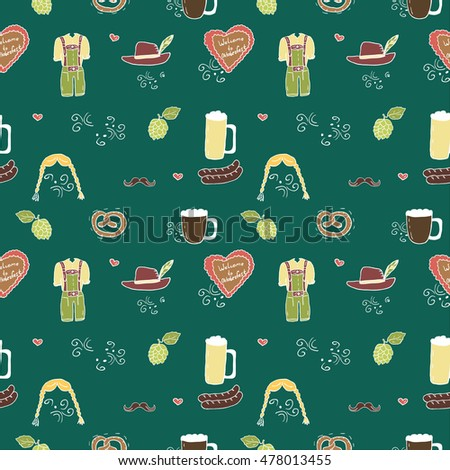 Octoberfest pattern. Vector illustration