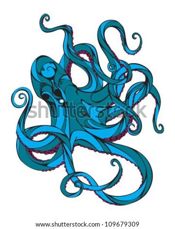 Octopus - stock vector