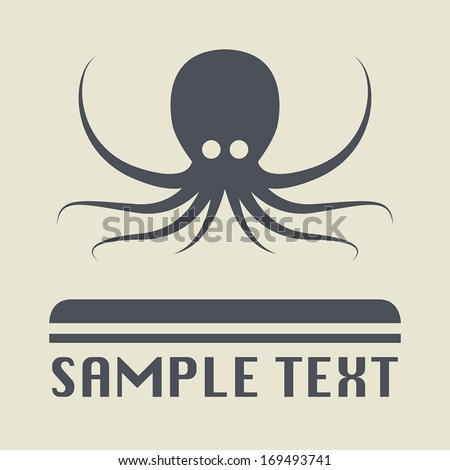 Octopus icon or sign, vector illustration - stock vector