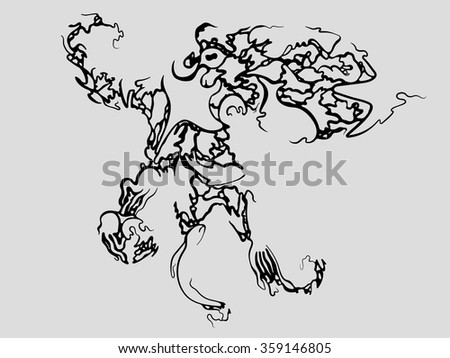 Octopus Made Up Of Many Sea Creatures - stock vector